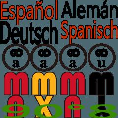 90°8 ドイツ語。スペイン語