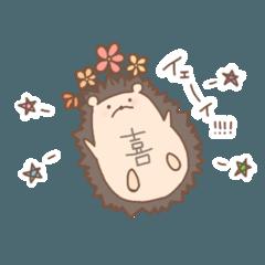 剣山+ハリネズミ→ハナネズミ