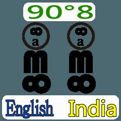 90°8 インド 英語