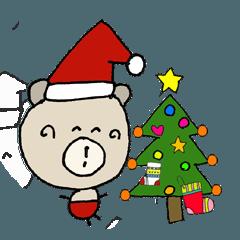 く~吉 冬の生活!クリスマス 新年の挨拶