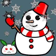 動く!!雪だるまと雪兎。基本セット