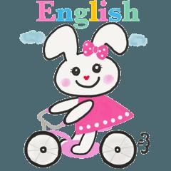 オシャレで可愛いうさぎ 英語