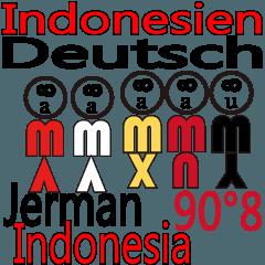 90°8 ドイツ語。インドネシア語