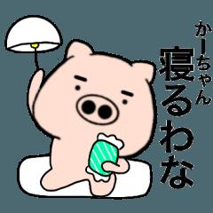【かーちゃん】が使う 関西弁ブタ