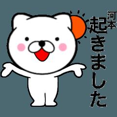 【河本】が使う主婦が作ったデカ文字ネコ
