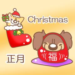コーギー・テナさんのクリスマス・正月編