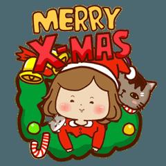 マシュマロ女子-クリスマス &幸せな新年