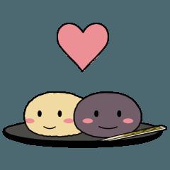 和菓子であいづちスタンプ