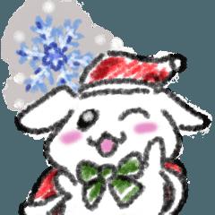 垂れ耳うさぎのゆめちゃん。クリスマスVer.