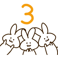 オカメインコとウサギさん3