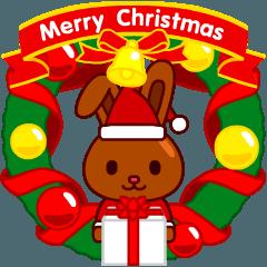 動く!チョコうさぎのクリスマス