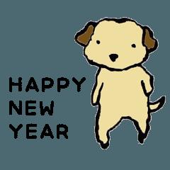年賀の犬+日常