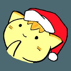 [LINEスタンプ] にゃんたま クリスマスのお楽しみ