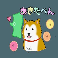 ゆる~い秋田犬スタンプ*秋田弁*