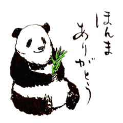 愛らしく真面目なパンダさん 関西弁