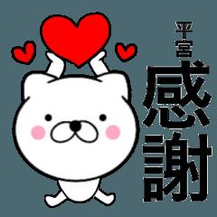 【平宮】が使う主婦が作ったデカ文字ネコ