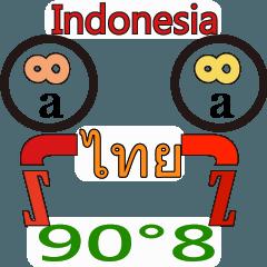 90°8 タイ .インドネシア