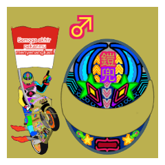 Moto Race Rainbow-colored Riders 461 @06