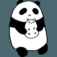 パンダと白いハムスター1