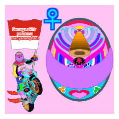 Moto Race Rainbow-colored Riders 31 @06