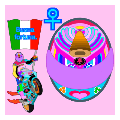 Moto Race Rainbow-colored Riders 31 @08