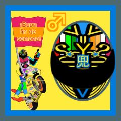 Moto Race Rainbow-colored Riders 64 @02