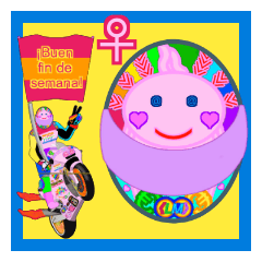 Moto Race Rainbow-colored Riders 68 @02