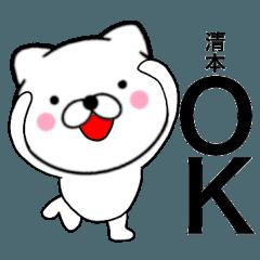 【清本】が使う主婦が作ったデカ文字ネコ