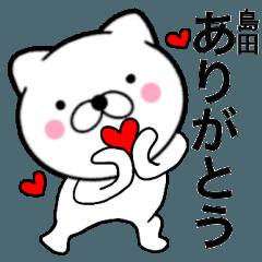 【島田】が使う主婦が作ったデカ文字ネコ