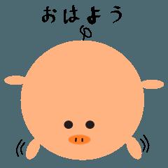 豚さんのスタンプ