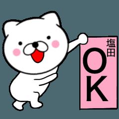 【塩田】が使う主婦が作ったデカ文字ネコ