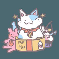half moon cat