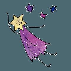 [LINEスタンプ] 脱力系流れ星