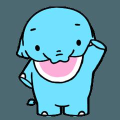 [LINEスタンプ] 鼻が短く、可愛い象ポポッコ