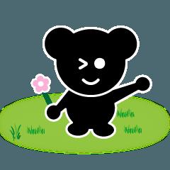 [LINEスタンプ] 「くろロン1」日常使いやすいスタンプ