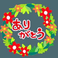 大人女子のための花のリーススタンプ