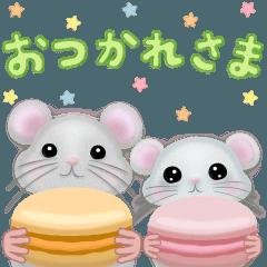 【日本語】マカロンねずみちゃん♪