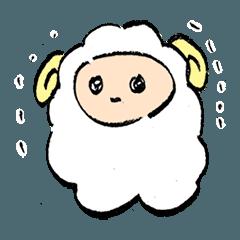 [LINEスタンプ] ふるえる羊