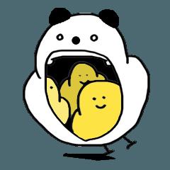 [LINEスタンプ] パンダっち パンダもち 毎日おいしい