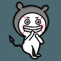 [LINEスタンプ] デビルに憧れるQちゃん【日常編】