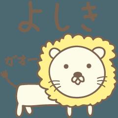 よしきさんライオン Lion for Yoshiki