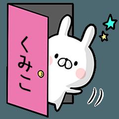 【くみこ】専用名前ウサギ