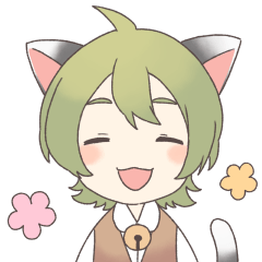 猫耳少年少女スタンプ