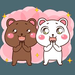茶クマさんと白クマさん2