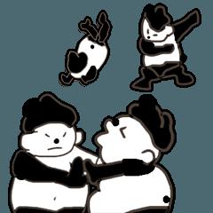 相撲 パンダ力士 お相撲さん