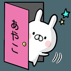 【あやこ】専用名前ウサギ