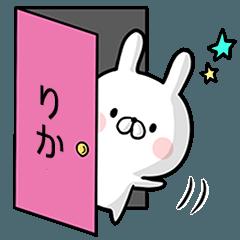 【りか】専用名前ウサギ