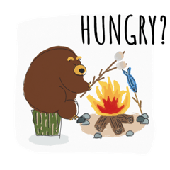 [LINEスタンプ] Grizzy the Bear