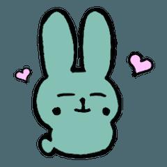 緑のねむウサギ
