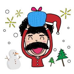 [LINEスタンプ] Yuk Yik : Christmas & New Year Party